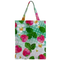 Cute Strawberries Pattern Zipper Classic Tote Bag by DanaeStudio