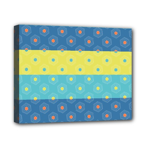 Hexagon And Stripes Pattern Canvas 10  X 8  by DanaeStudio