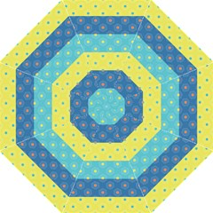 Hexagon And Stripes Pattern Folding Umbrellas by DanaeStudio