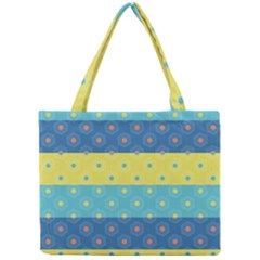 Hexagon And Stripes Pattern Mini Tote Bag by DanaeStudio