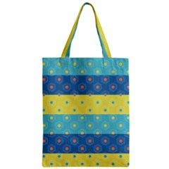 Hexagon And Stripes Pattern Zipper Classic Tote Bag by DanaeStudio