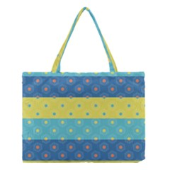 Hexagon And Stripes Pattern Medium Tote Bag