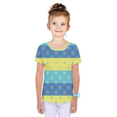 Hexagon And Stripes Pattern Kids  One Piece Tee