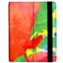 Lovely Red Poppy And Blue Dots Apple iPad 2 Flip Case View2
