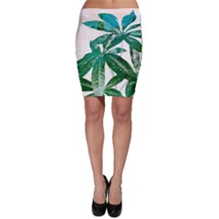 Pachira Leaves  Bodycon Skirt