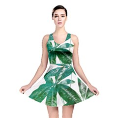 Pachira Leaves  Reversible Skater Dress