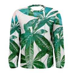 Pachira Leaves  Men s Long Sleeve Tee
