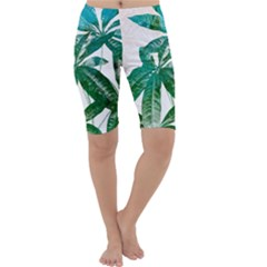 Pachira Leaves  Cropped Leggings