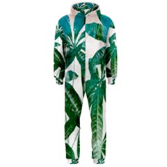 Pachira Leaves  Hooded Jumpsuit (men)
