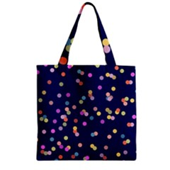 Playful Confetti Zipper Grocery Tote Bag by DanaeStudio