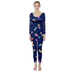 Playful Confetti Long Sleeve Catsuit