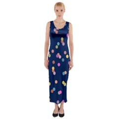 Playful Confetti Fitted Maxi Dress
