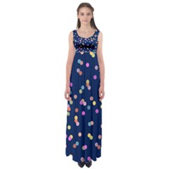 Playful Confetti Empire Waist Maxi Dress