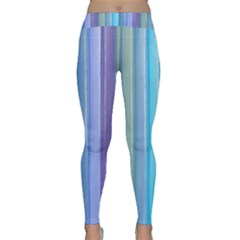 Provence Fields Lavender Pattern Classic Yoga Leggings