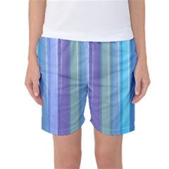 Provence Fields Lavender Pattern Women s Basketball Shorts