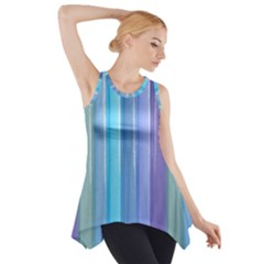 Provence Fields Lavender Pattern Side Drop Tank Tunic