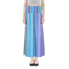 Provence Fields Lavender Pattern Maxi Skirts