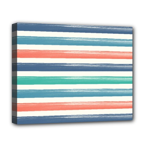 Summer Mood Striped Pattern Deluxe Canvas 20  X 16   by DanaeStudio