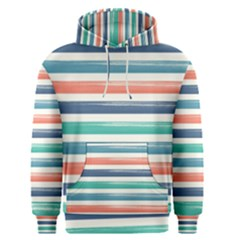 Summer Mood Striped Pattern Men s Pullover Hoodie