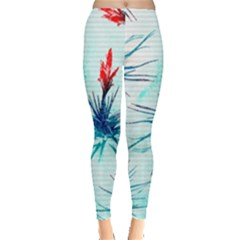 Tillansia Flowers Pattern Leggings  by DanaeStudio