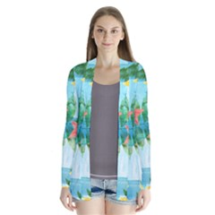 Tropical Starfruit Pattern Cardigans by DanaeStudio