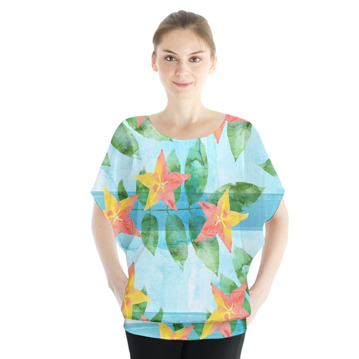 Tropical Starfruit Pattern Blouse