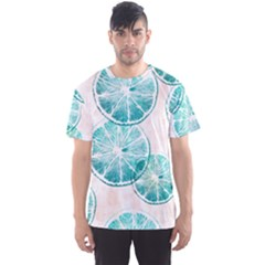 Turquoise Citrus And Dots Men s Sport Mesh Tee