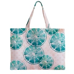 Turquoise Citrus And Dots Mini Tote Bag