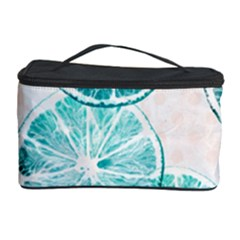Turquoise Citrus And Dots Cosmetic Storage Case