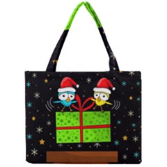 Cute Christmas Birds Mini Tote Bag by Valentinaart