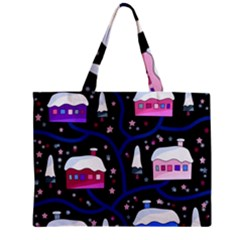 Magical Xmas Night Mini Tote Bag by Valentinaart
