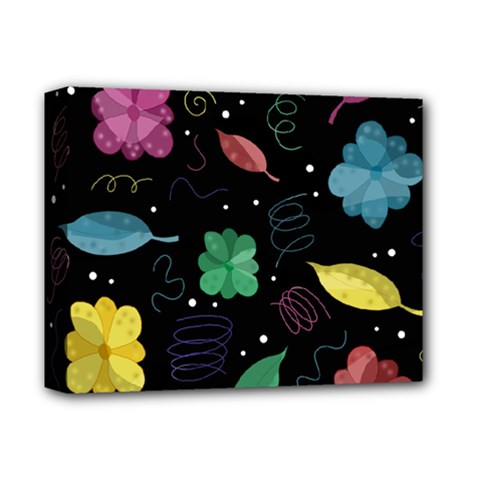 Colorful Floral Design Deluxe Canvas 14  X 11  by Valentinaart