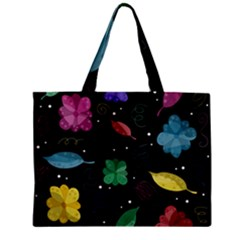 Colorful Floral Design Mini Tote Bag by Valentinaart
