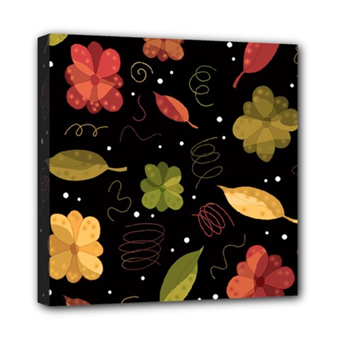 Autumn Flowers  Mini Canvas 8  X 8  by Valentinaart