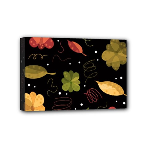 Autumn Flowers  Mini Canvas 6  X 4  by Valentinaart