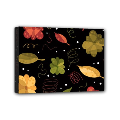 Autumn Flowers  Mini Canvas 7  X 5  by Valentinaart