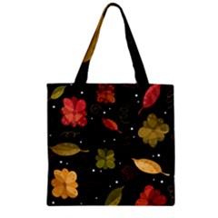 Autumn Flowers  Zipper Grocery Tote Bag by Valentinaart