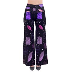 Purple And Pink Flowers  Pants by Valentinaart