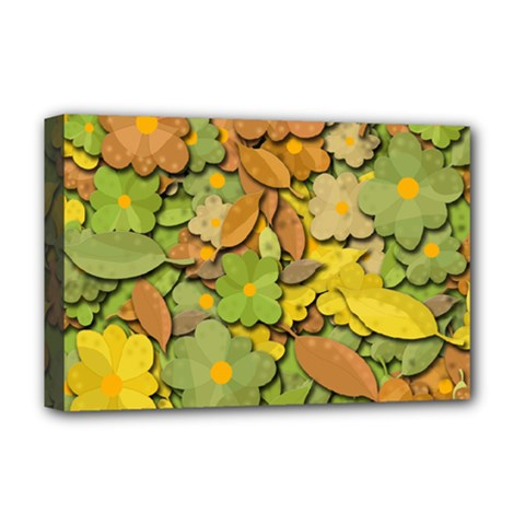 Autumn Flowers Deluxe Canvas 18  X 12   by Valentinaart
