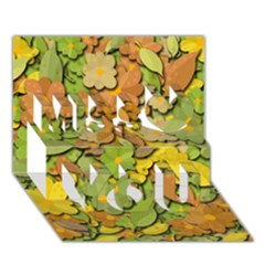 Autumn Flowers Miss You 3d Greeting Card (7x5) by Valentinaart