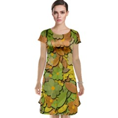 Autumn Flowers Cap Sleeve Nightdress
