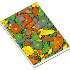 Decorative Flowers Large Memo Pads by Valentinaart