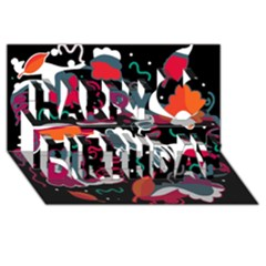 Fly Away  Happy Birthday 3d Greeting Card (8x4) by Valentinaart