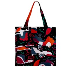 Fly Away  Zipper Grocery Tote Bag by Valentinaart