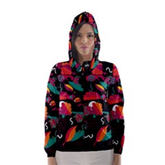 Colorful Abstract Art  Hooded Wind Breaker (women)