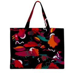 Colorful Abstract Art  Medium Zipper Tote Bag by Valentinaart