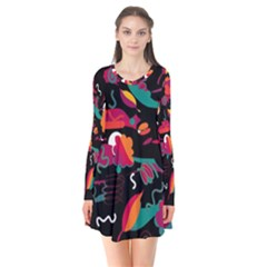 Colorful Abstract Art  Flare Dress by Valentinaart