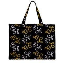 Elegance   Yellow Zipper Mini Tote Bag by Valentinaart