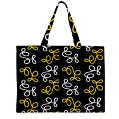 Elegance   Yellow Zipper Large Tote Bag by Valentinaart