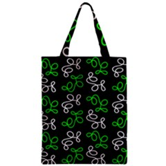 Elegance   Green Zipper Classic Tote Bag by Valentinaart